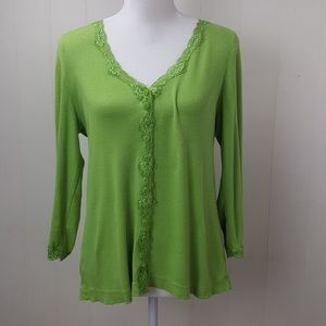Chicos Lace V-Neck Top